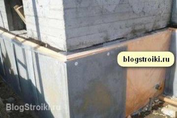 позеленевший бетон