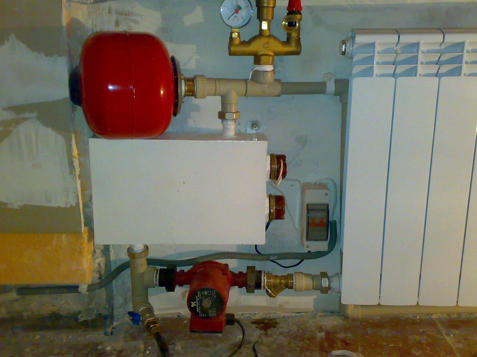 схема закрытых систем отопления