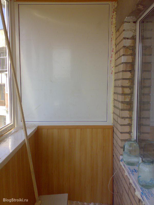 Наружный монтаж каркаса профилями для обустройства балкона п.