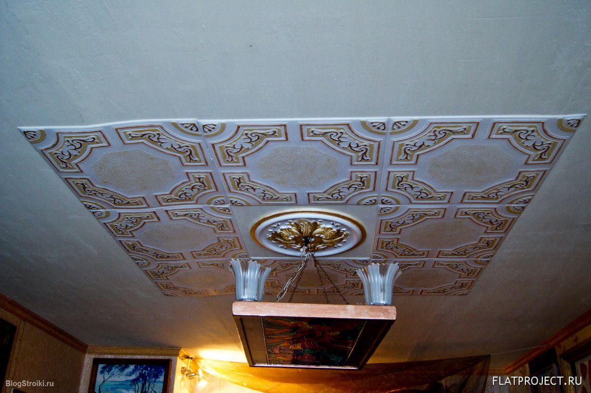 Дизайн пенопластовых потолков
