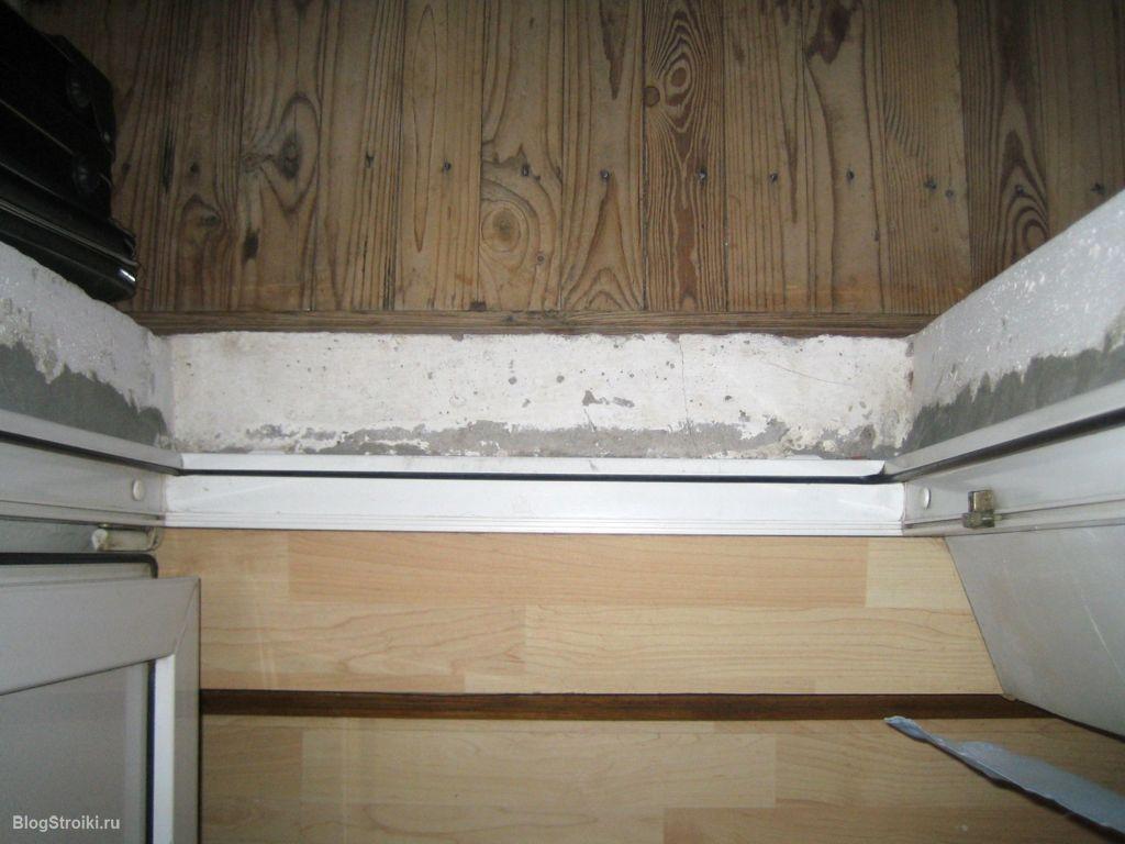 Хочу дома снять пол и вставить пластиковый балконный блок, д.