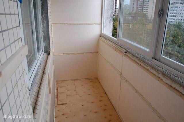 Утепление балконов пенопластом 120