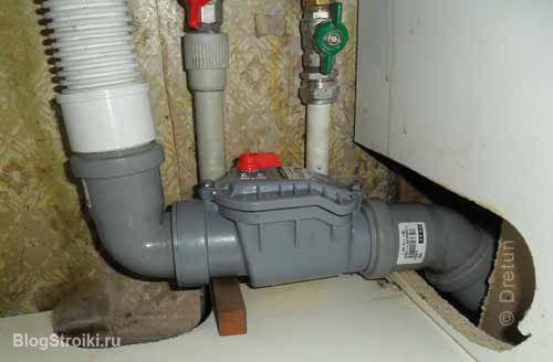 Запорный клапан для канализации своими руками