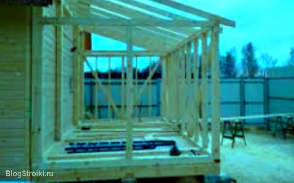 Как пристроить веранду к бревенчатому дому пошагово